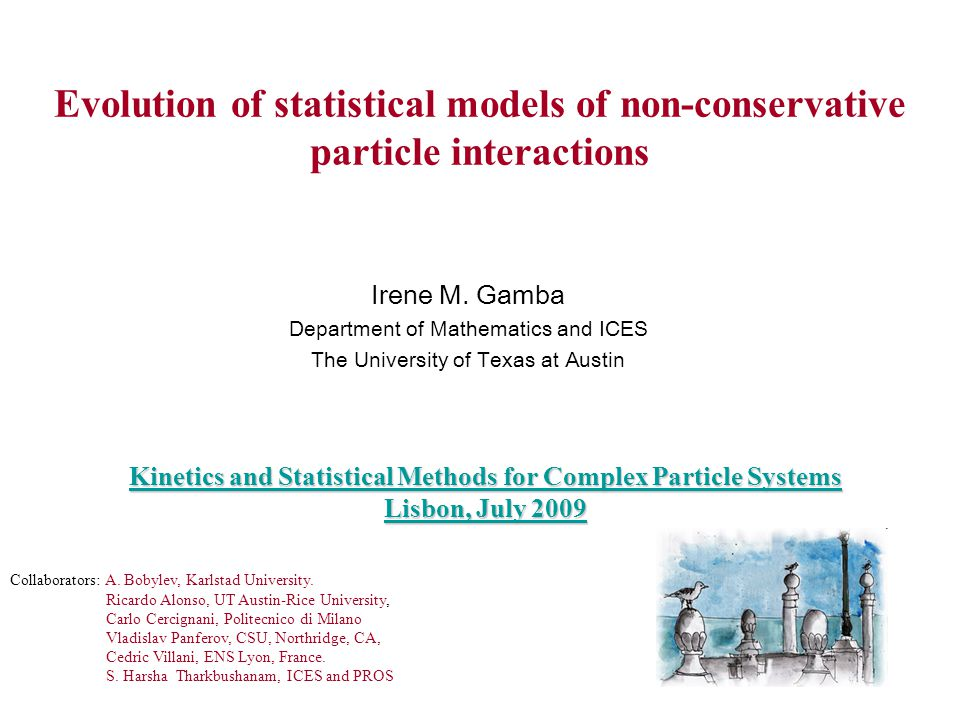 Kinetics and Statistical Methods for Complex Particle Systems