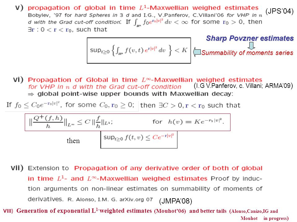 Sharp Povzner estimates