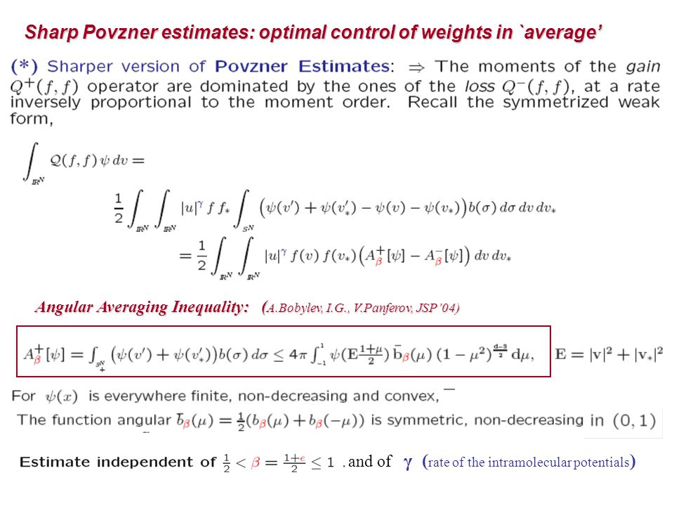 Sharp Povzner estimates: optimal control of weights in `average'