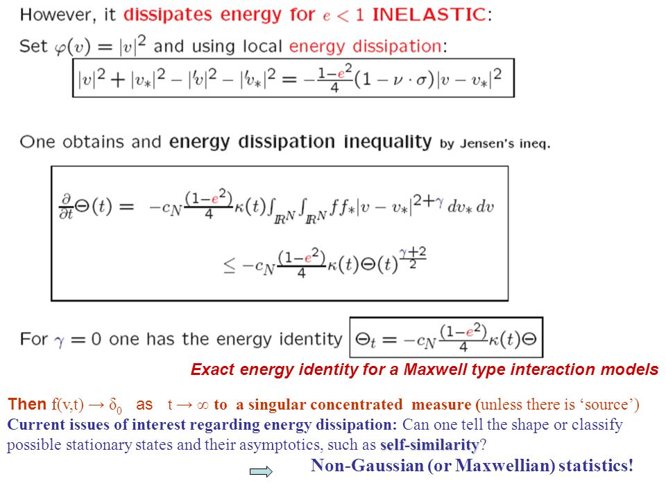 Exact energy identity for a Maxwell type interaction models