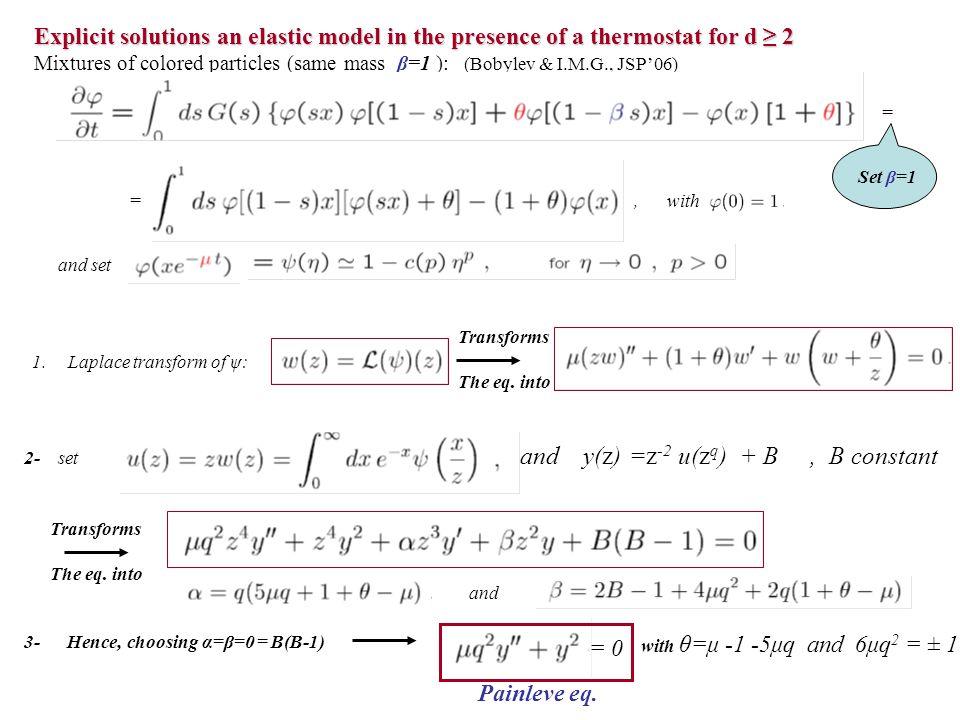 and y(z) =z-2 u(zq) + B , B constant