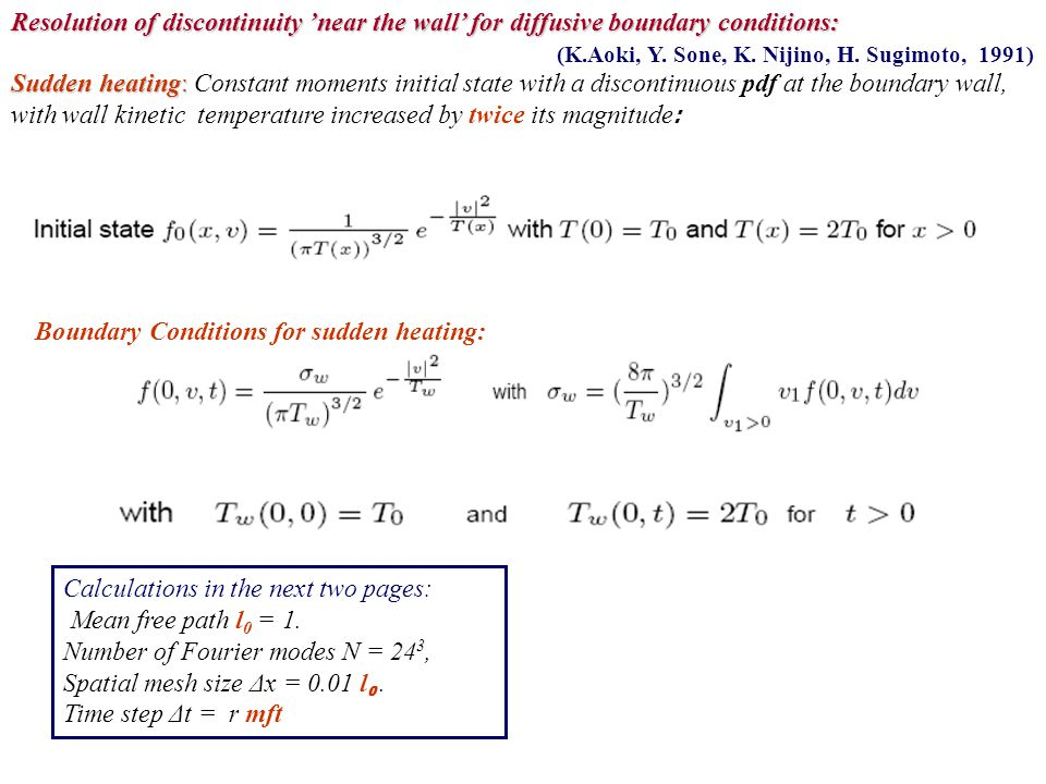Resolution of discontinuity 'near the wall' for diffusive boundary conditions: