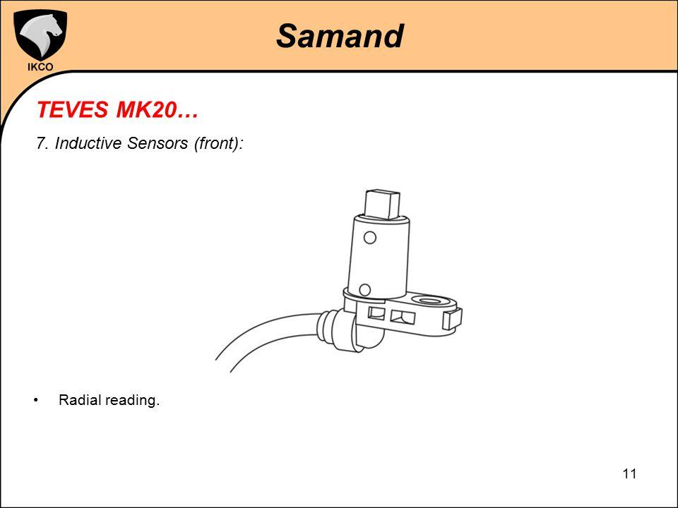 Samand TEVES MK20… 7. Inductive Sensors (front): Radial reading.