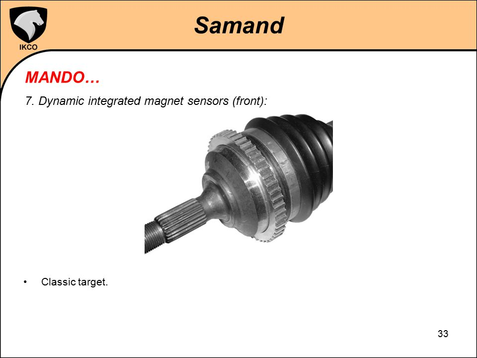 Samand MANDO… 7. Dynamic integrated magnet sensors (front):