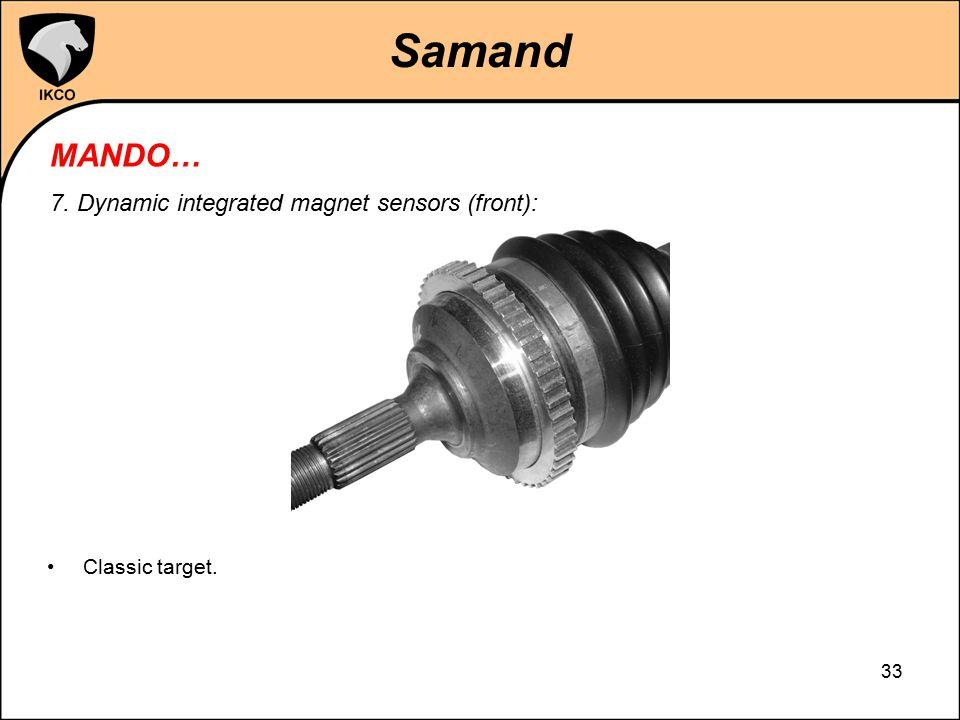 Samand MANDO… 7. Dynamic integrated magnet sensors (front):