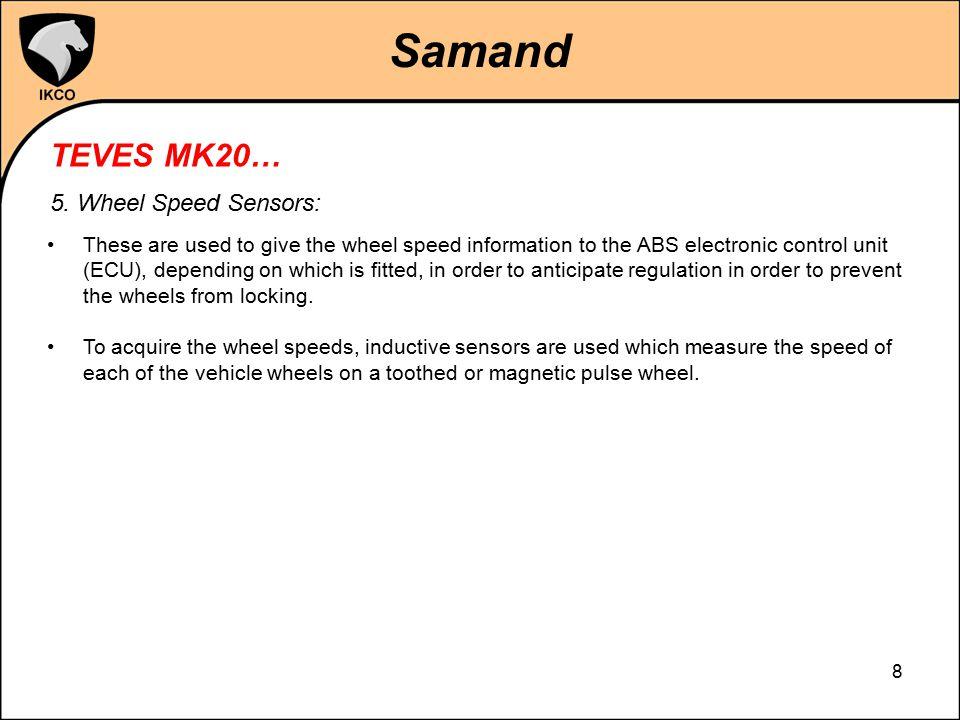 Samand TEVES MK20… 5. Wheel Speed Sensors: