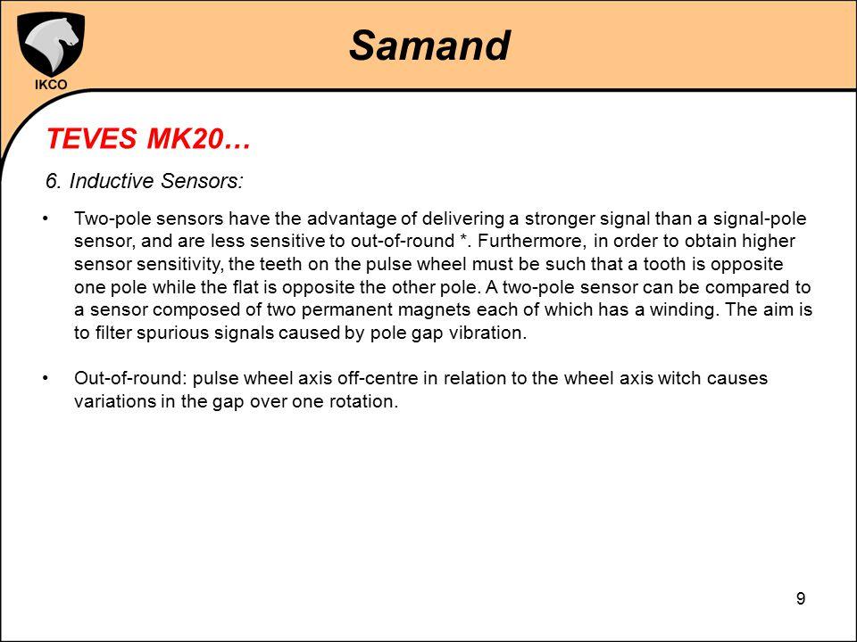 Samand TEVES MK20… 6. Inductive Sensors: