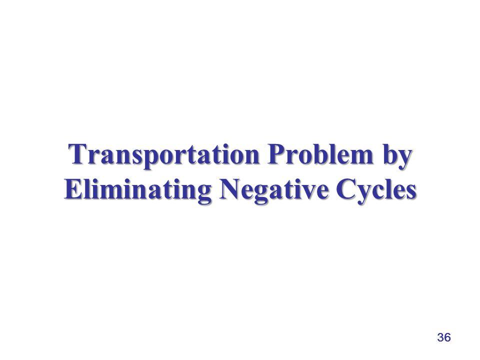 Transportation Problem by Eliminating Negative Cycles