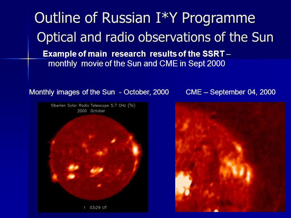 Optical and radio observations of the Sun