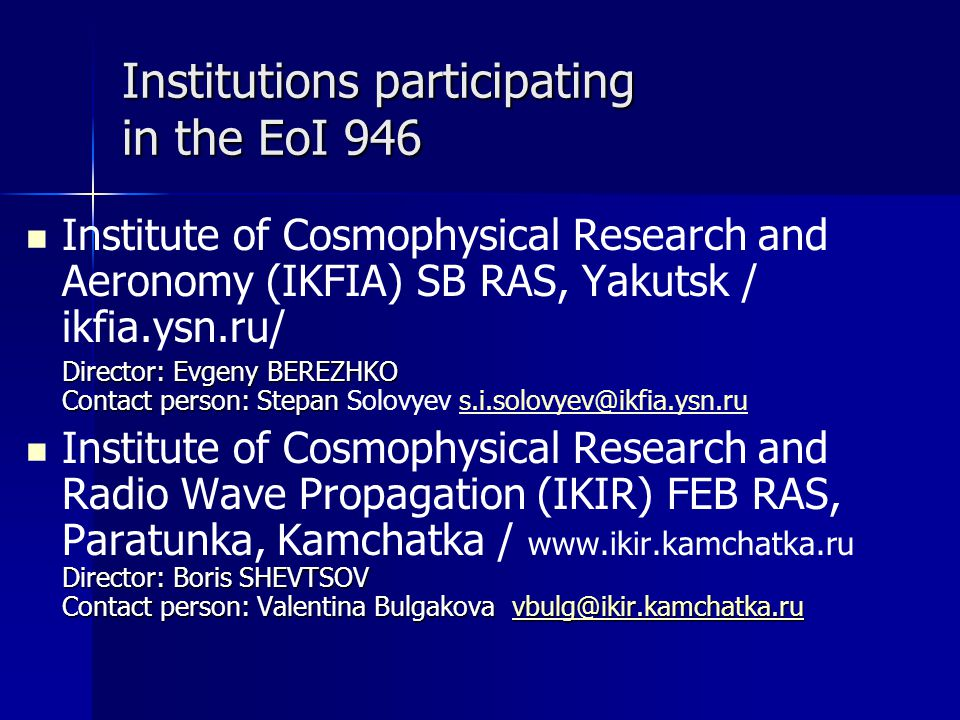 Institutions participating in the EoI 946