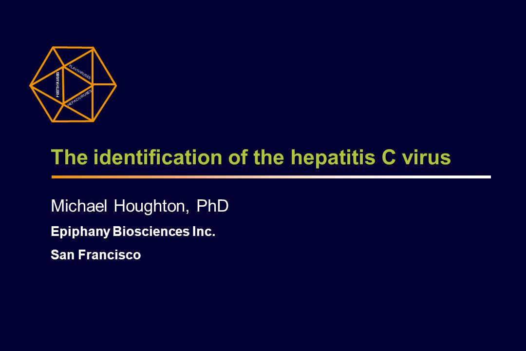 The identification of the hepatitis C virus