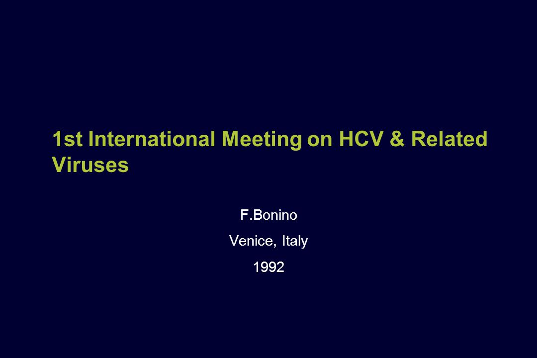 1st International Meeting on HCV & Related Viruses