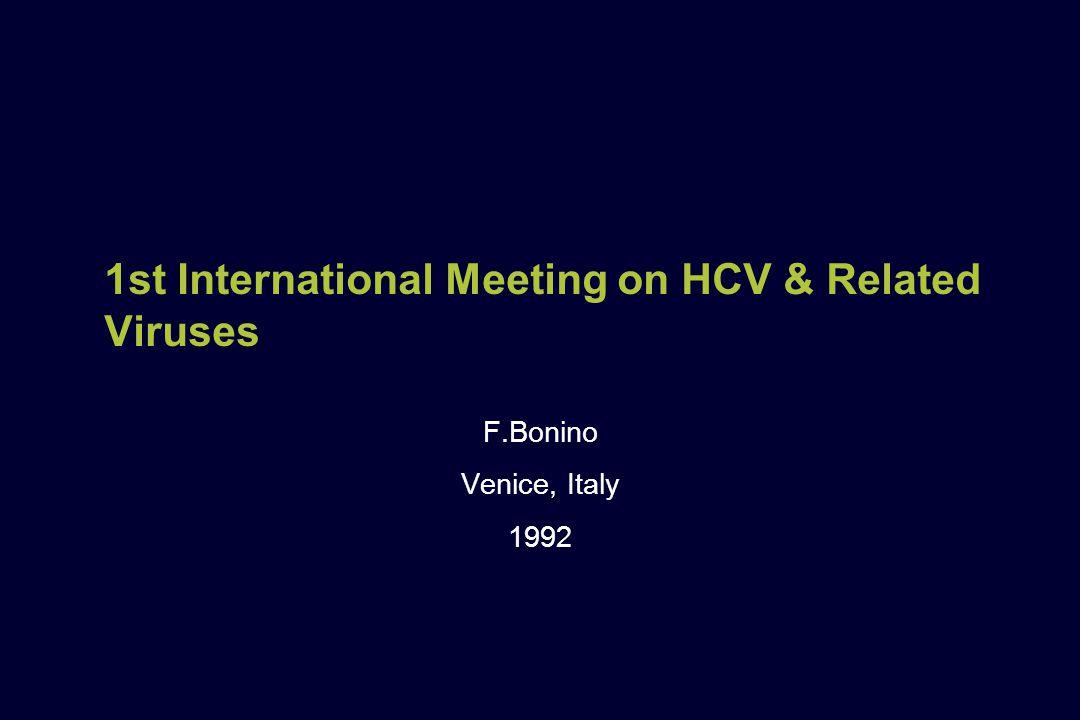 1st International Meeting on HCV & Related Viruses