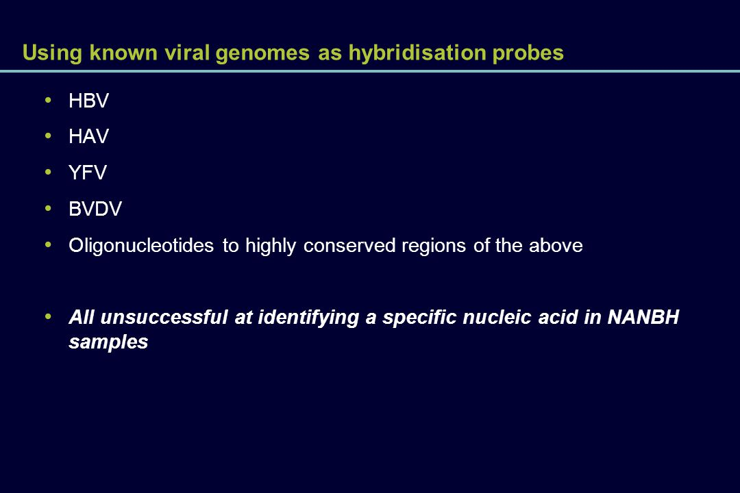 Using known viral genomes as hybridisation probes