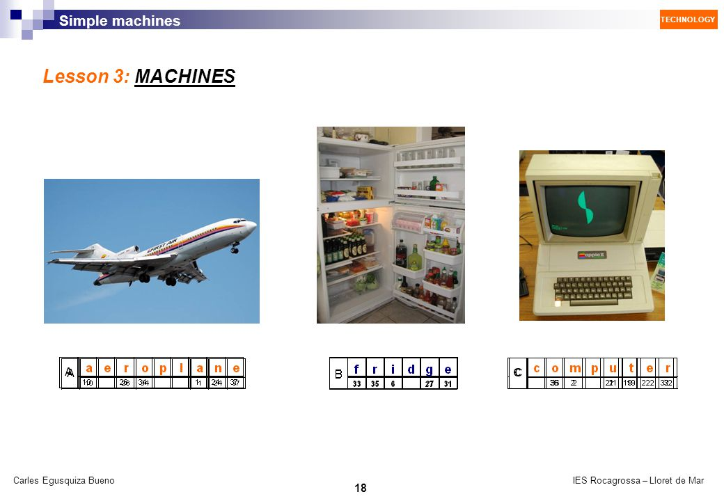Lesson 3: MACHINES
