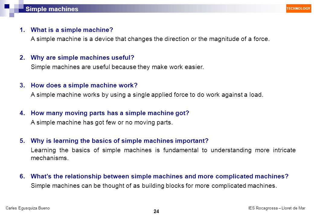 1. What is a simple machine