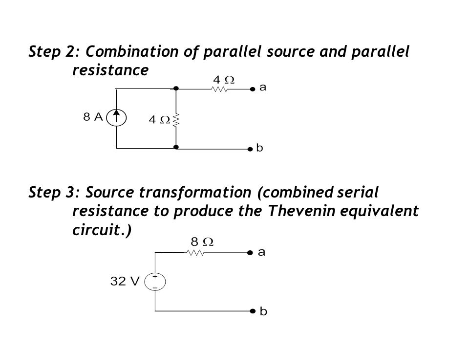 Step 2: Combination of parallel source and parallel resistance
