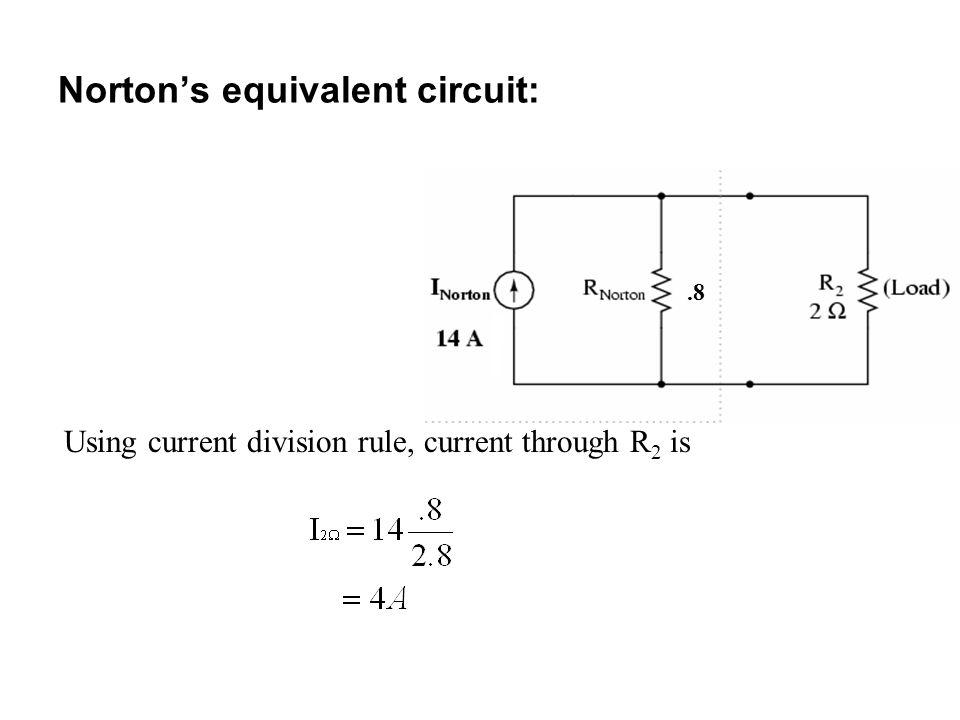 Norton's equivalent circuit: