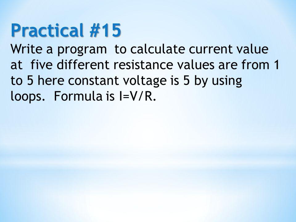 Practical #15