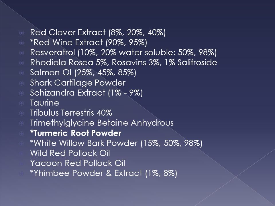 Red Clover Extract (8%, 20%, 40%)
