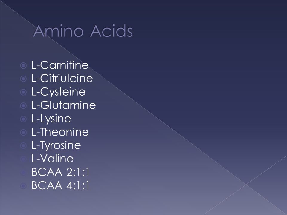 Amino Acids L-Carnitine L-Citriulcine L-Cysteine L-Glutamine L-Lysine