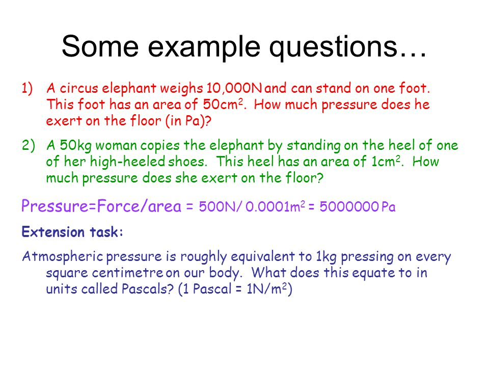 Some example questions…