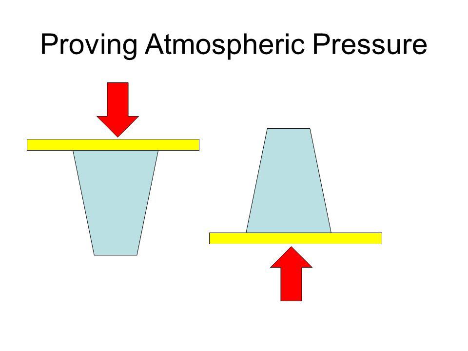 Proving Atmospheric Pressure