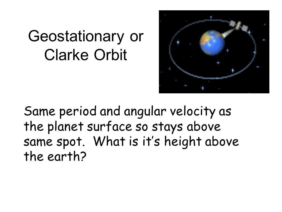 Geostationary or Clarke Orbit