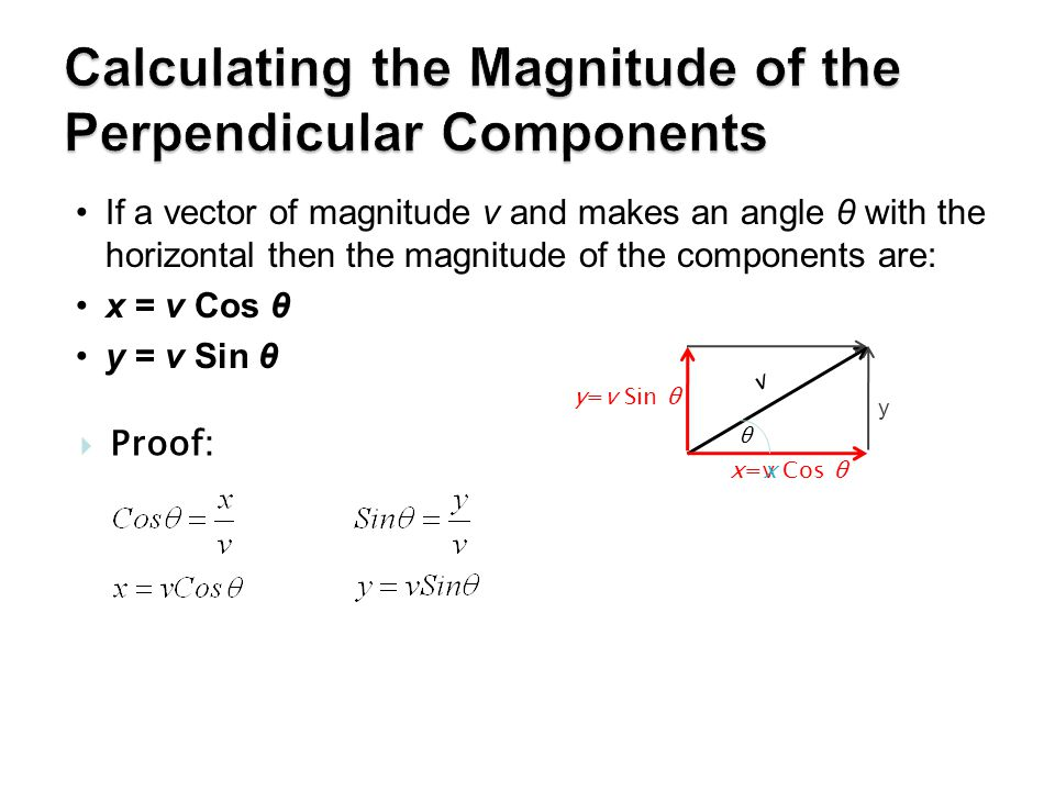 Calculating the Magnitude of the Perpendicular Components