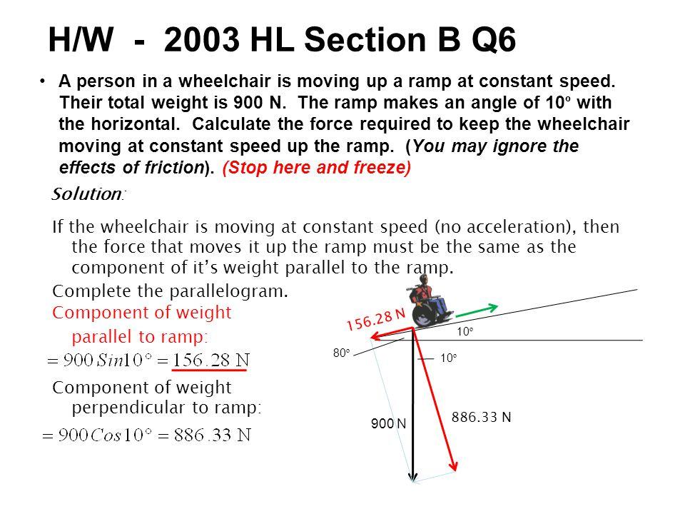 H/W - 2003 HL Section B Q6