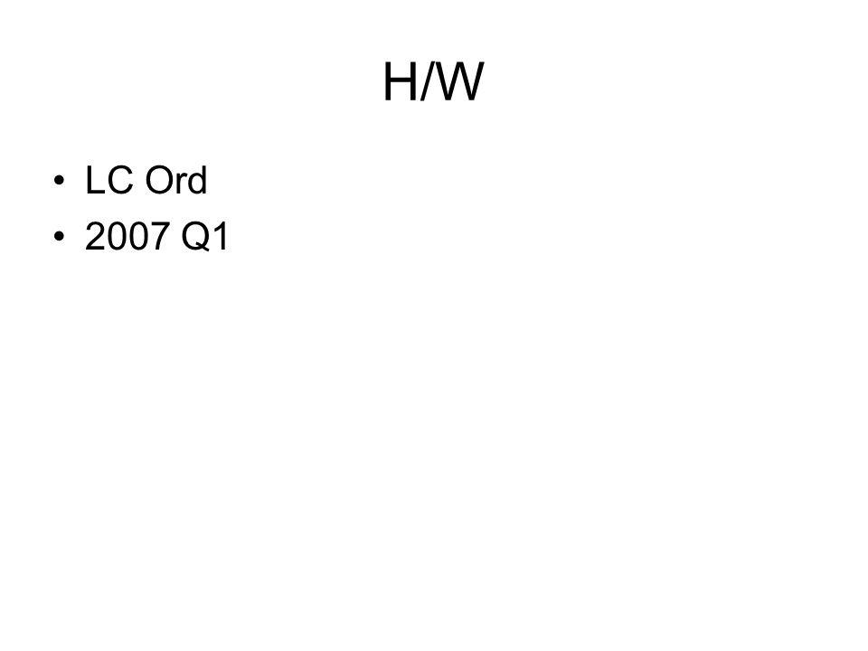 H/W LC Ord 2007 Q1