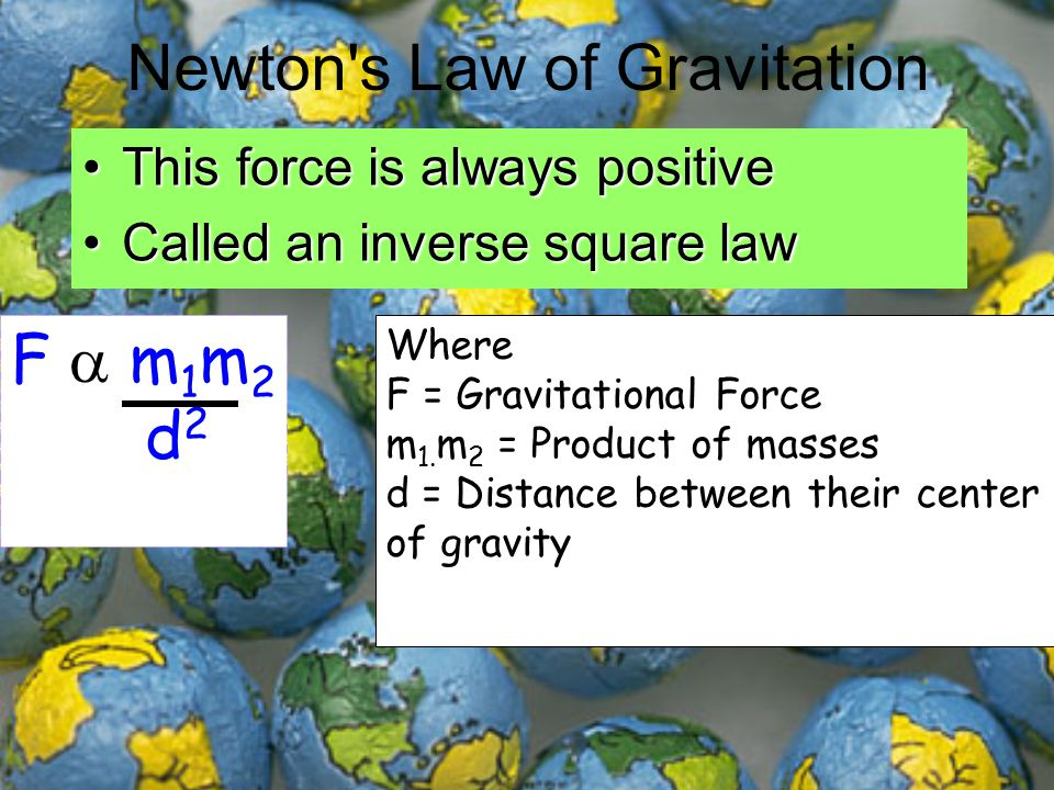Newton s Law of Gravitation