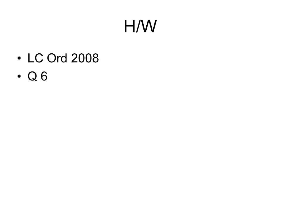 H/W LC Ord 2008 Q 6