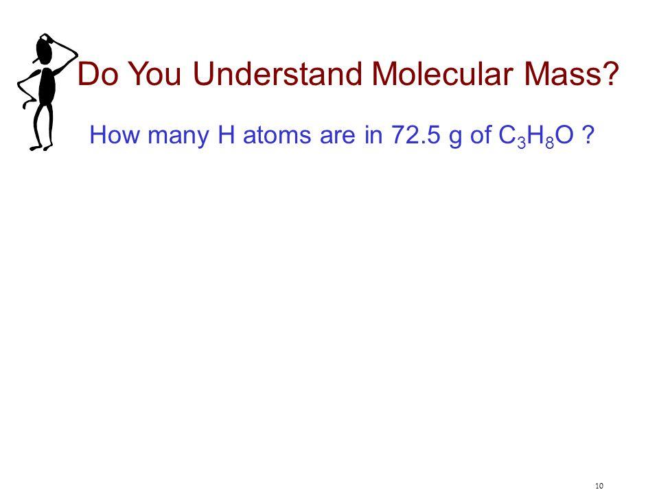 Do You Understand Molecular Mass