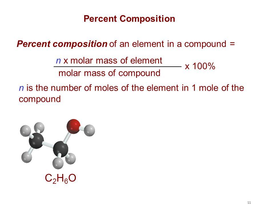 C2H6O Percent Composition