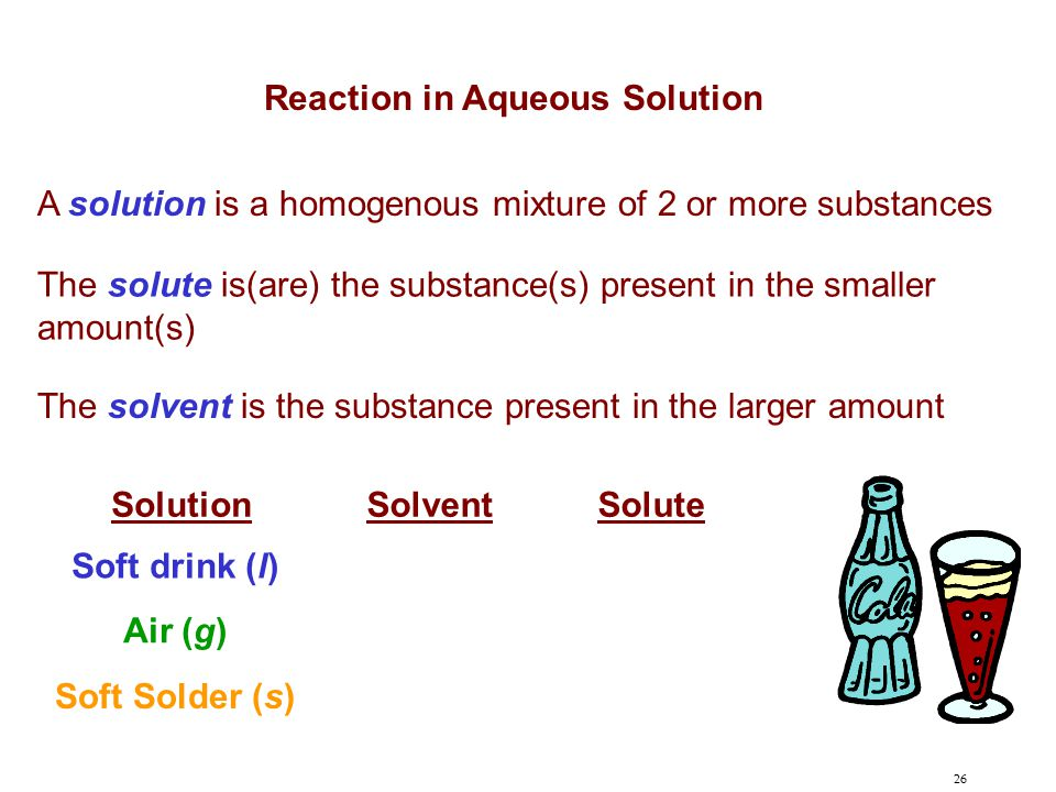 Reaction in Aqueous Solution
