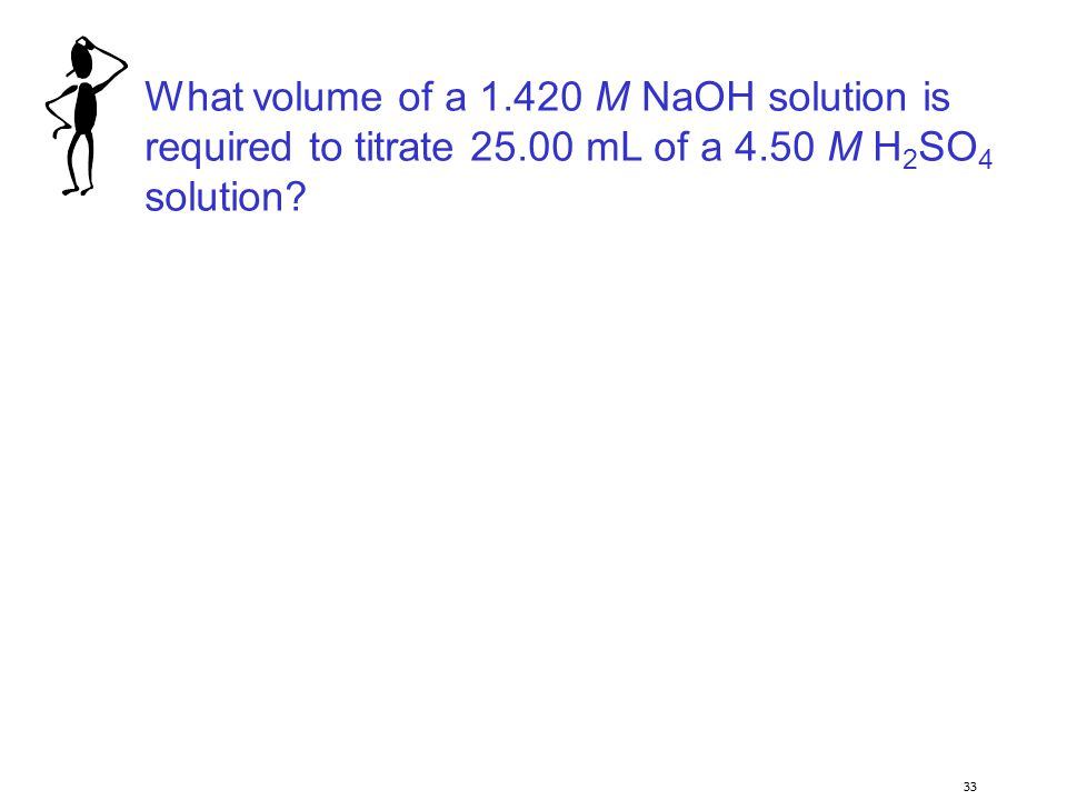 What volume of a 1.420 M NaOH solution is