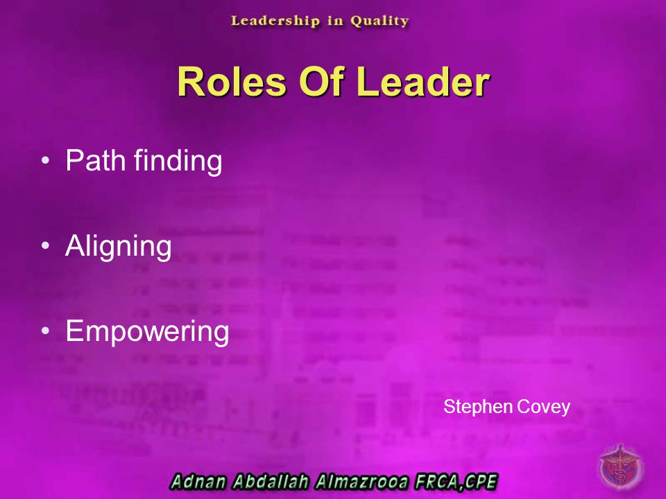 Roles Of Leader Path finding Aligning Empowering Stephen Covey