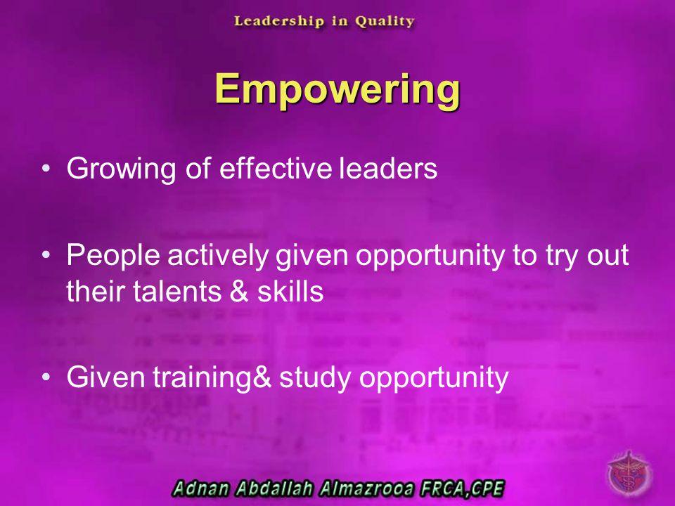 Empowering Growing of effective leaders