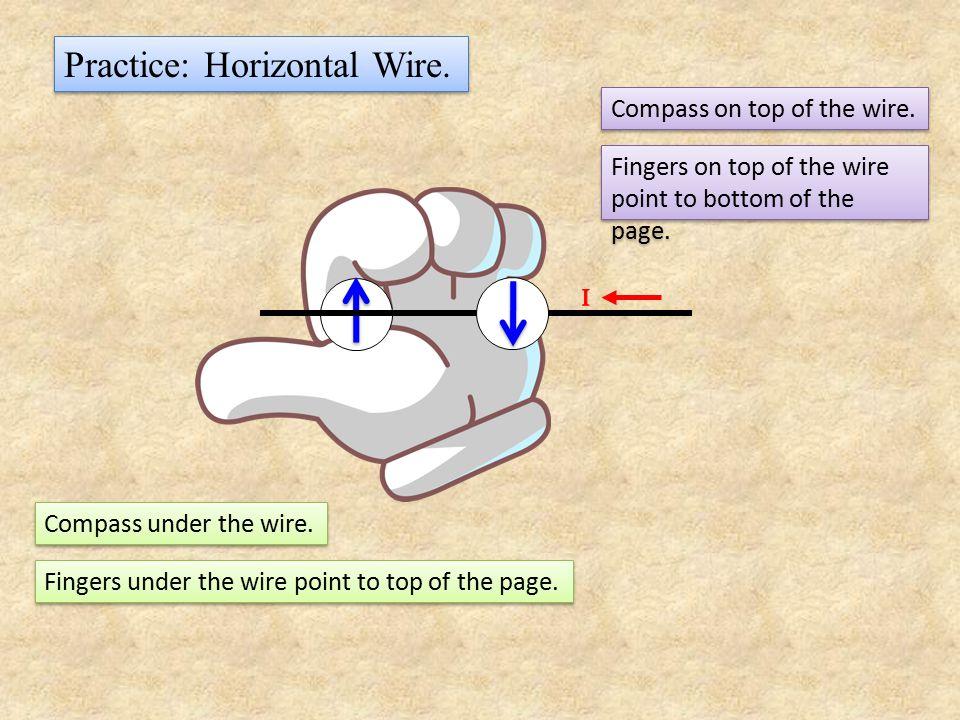 Practice: Horizontal Wire.