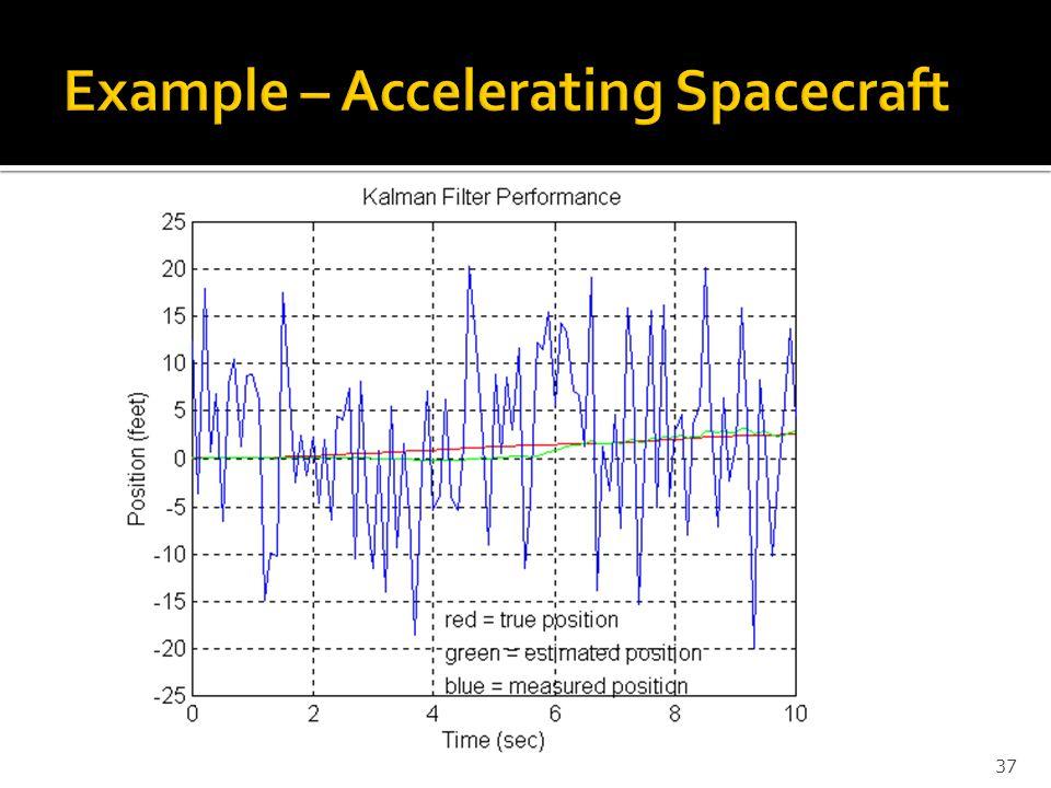 Example – Accelerating Spacecraft