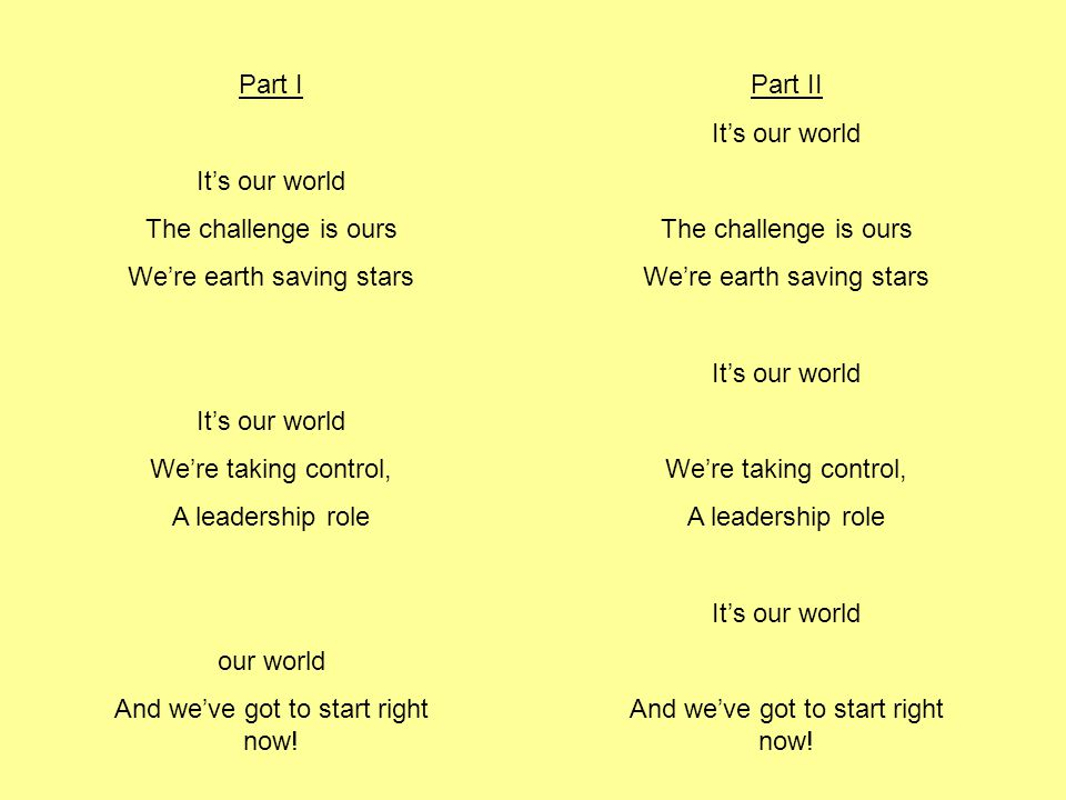 We're earth saving stars