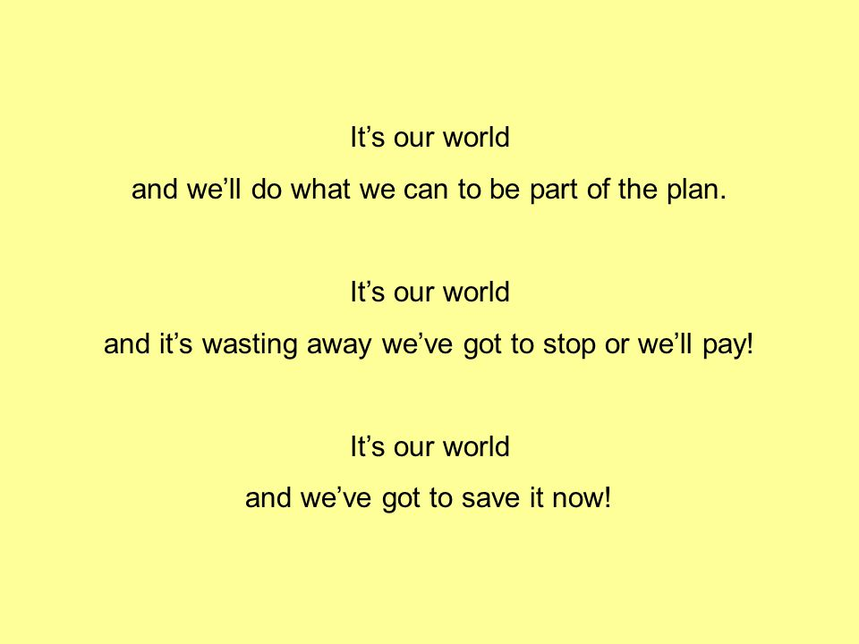 and we'll do what we can to be part of the plan.