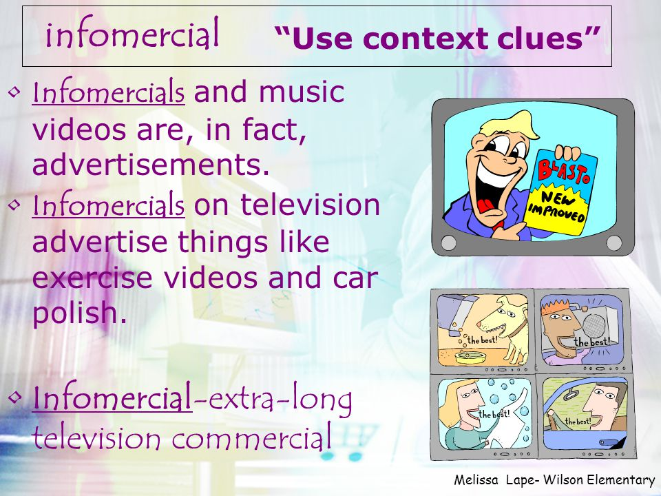 infomercial Infomercial-extra-long television commercial