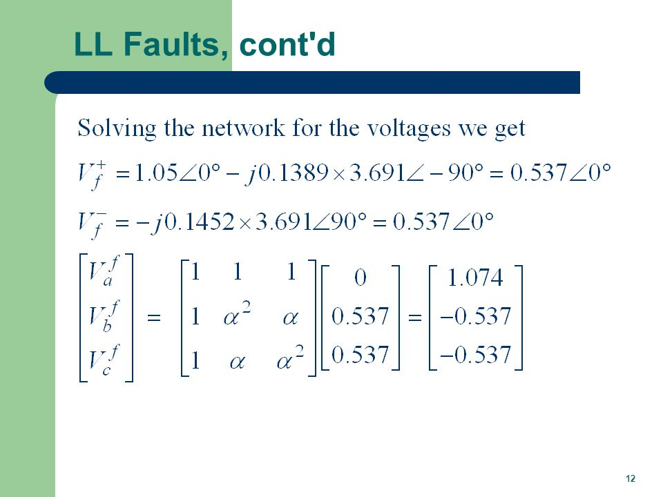 Double Line-to-Ground Faults
