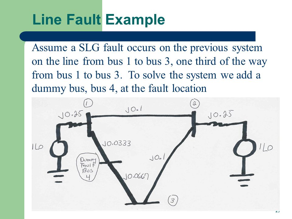 Line Fault Example, cont'd