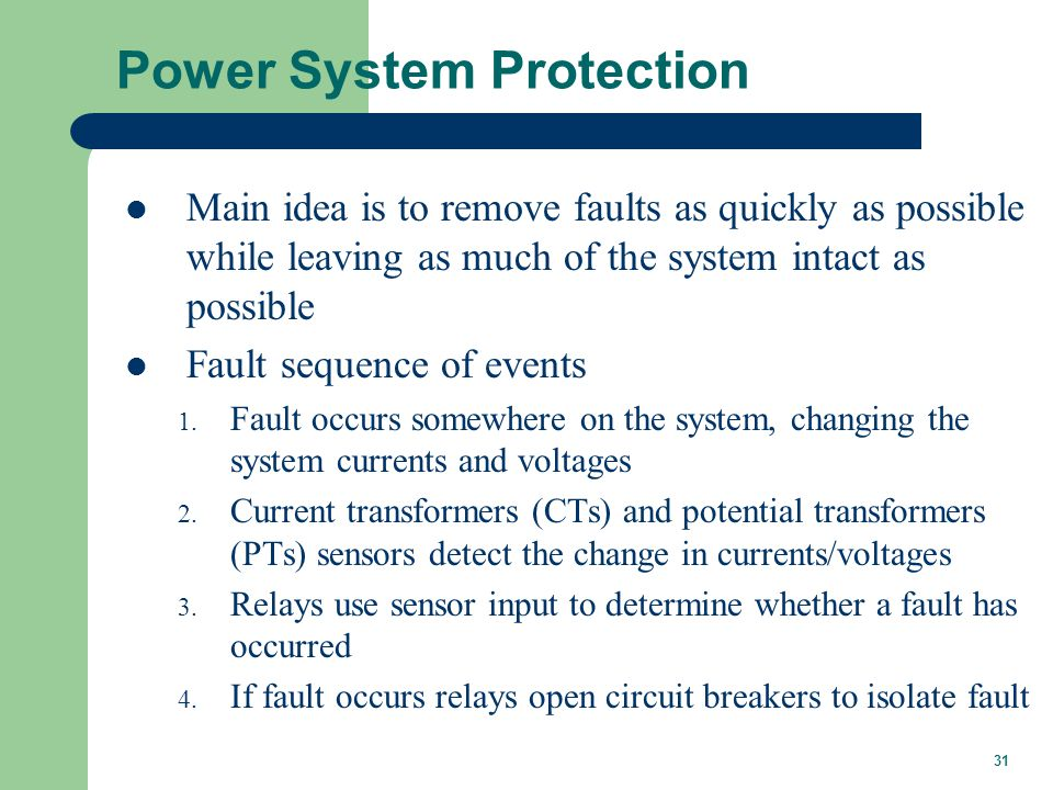 Power System Protection