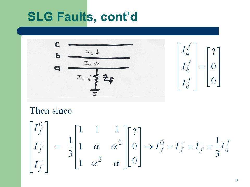 SLG Faults, cont'd