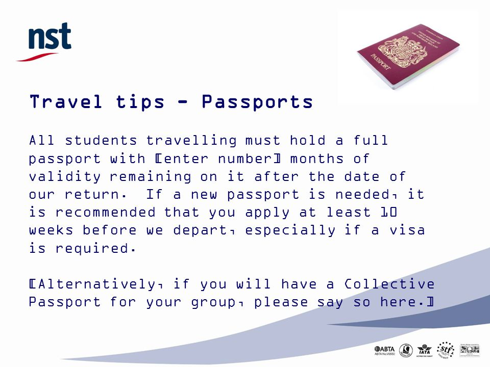 Travel tips - Passports