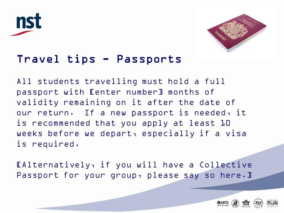 Travel tips - Passports
